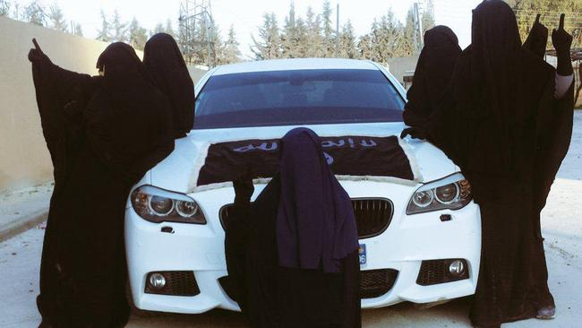 Women believed to be members of the Sharrouf family in pictured posted on social media page of Zaynab Sharrouf.