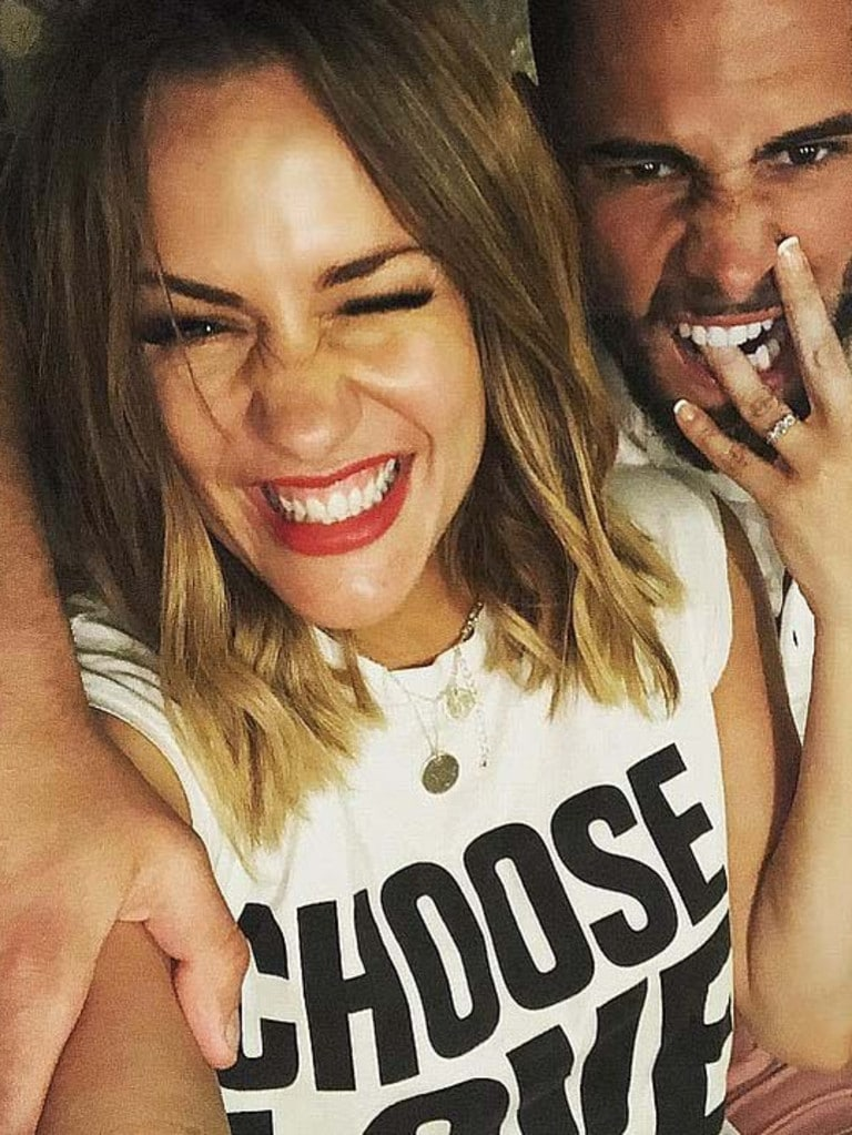 Caroline Flack and one-time fiance Andrew Brady. Picture: Instagram