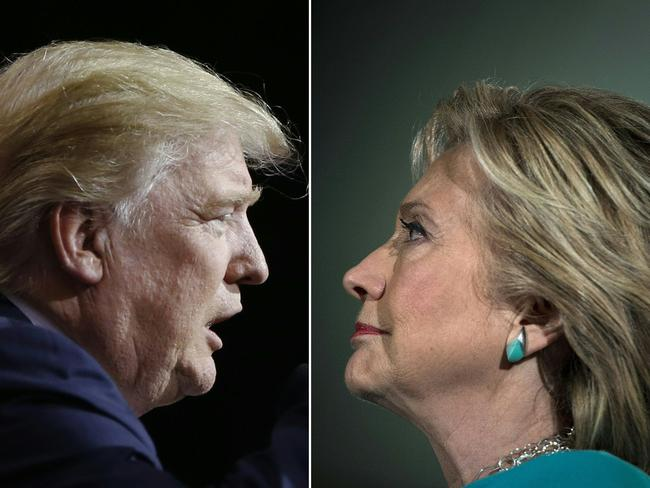 Republican presidential candidate Donald Trump and Democratic presidential nominee Hillary Clinton are making a last-ditch effort to win votes. Pictures: Jay LaPrete and Brendan Smialowski/AFP