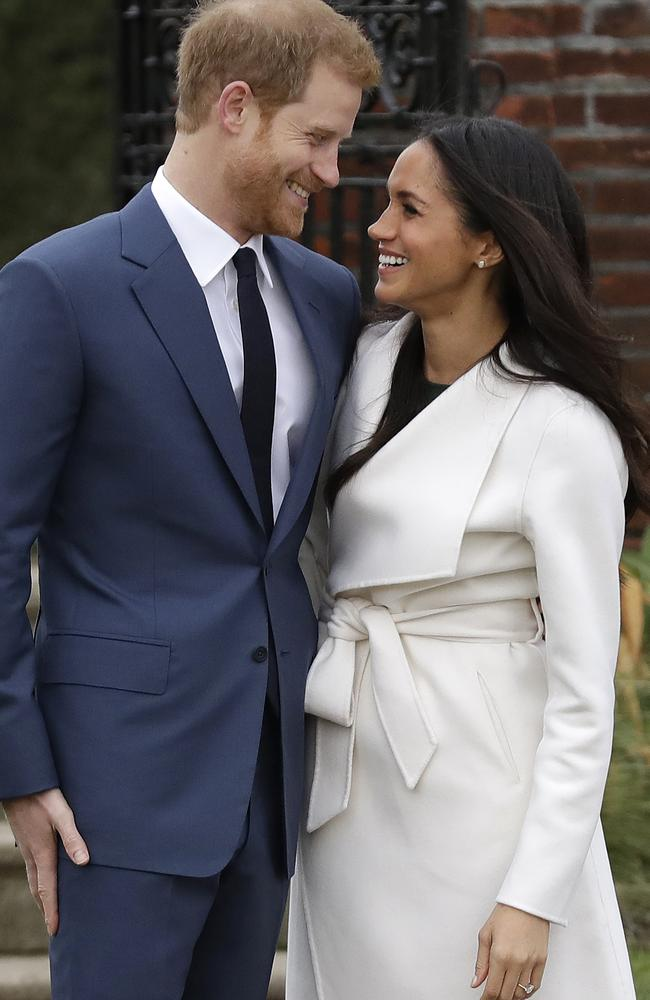 """Meghan Markle said the proposal from Britain's Prince Harry was """"very"""" romantic. Picture: AP/Photo/Matt Dunham."""