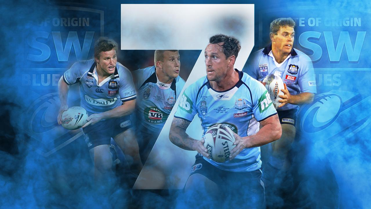 10 players have worn the NSW No.7 jumper since Andrew Johns retired.