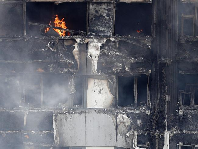 The building advised people to 'stay put' during a fire. Picture: AFP/ Adrian Dennis