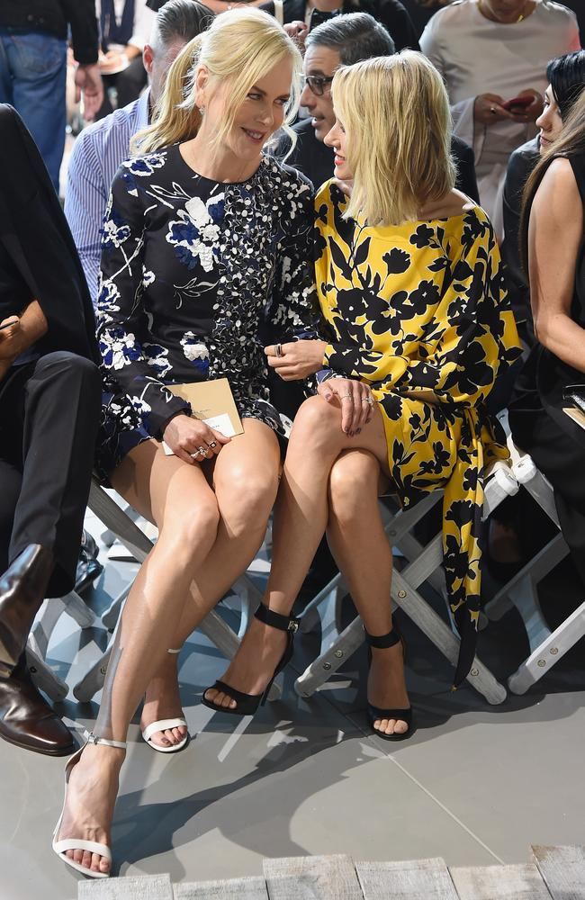Nicole Kidman and bestie Naomi Watts share a private moment. Picture: Getty Images for Michael Kors