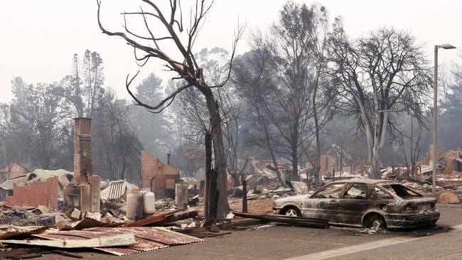 The township of Marysville was almost completely burnt out.