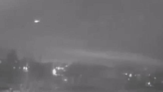 The fireball was captured on security footage in the city of North Liberty, Iowa.