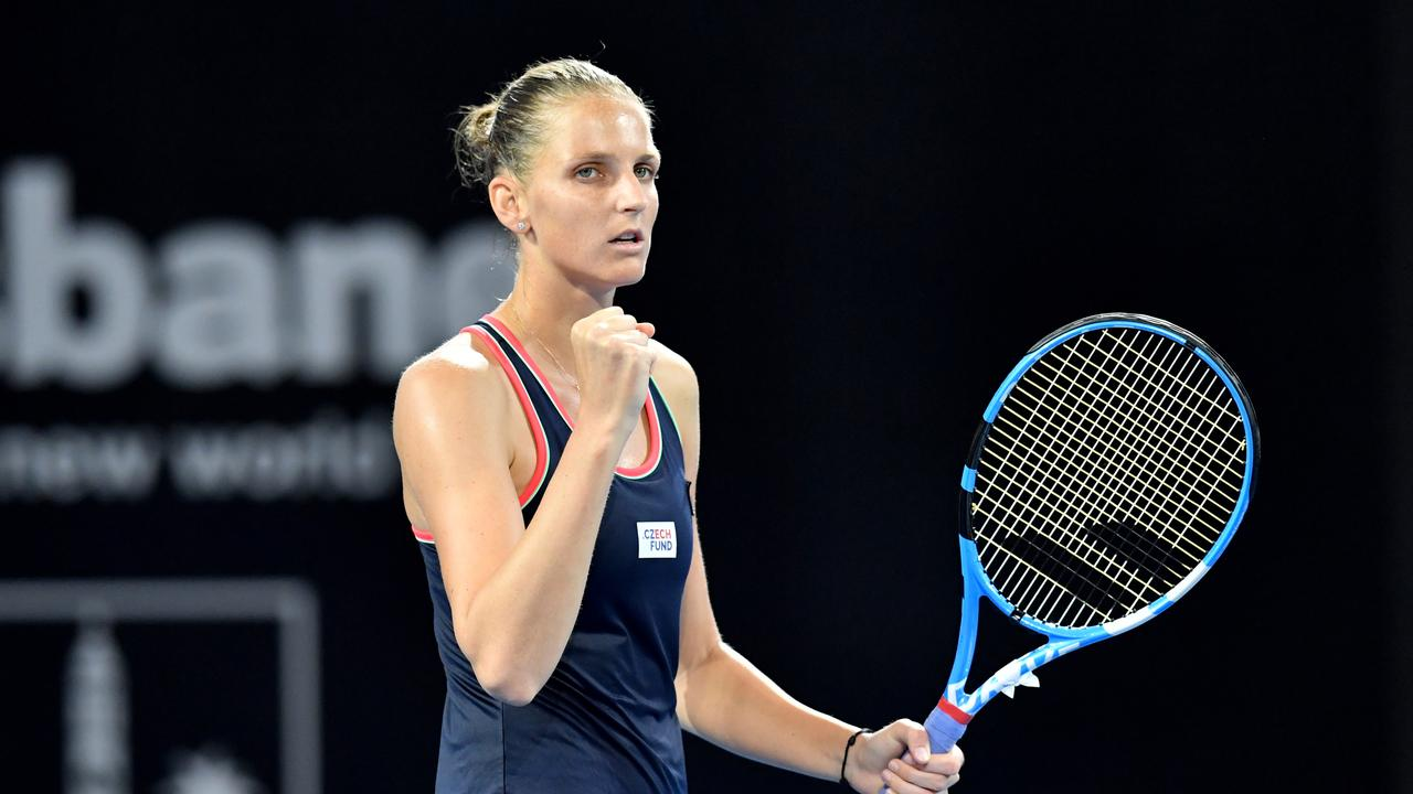 Karolina Pliskova won her second Brisbane title. Photo: AAP Image/Darren England