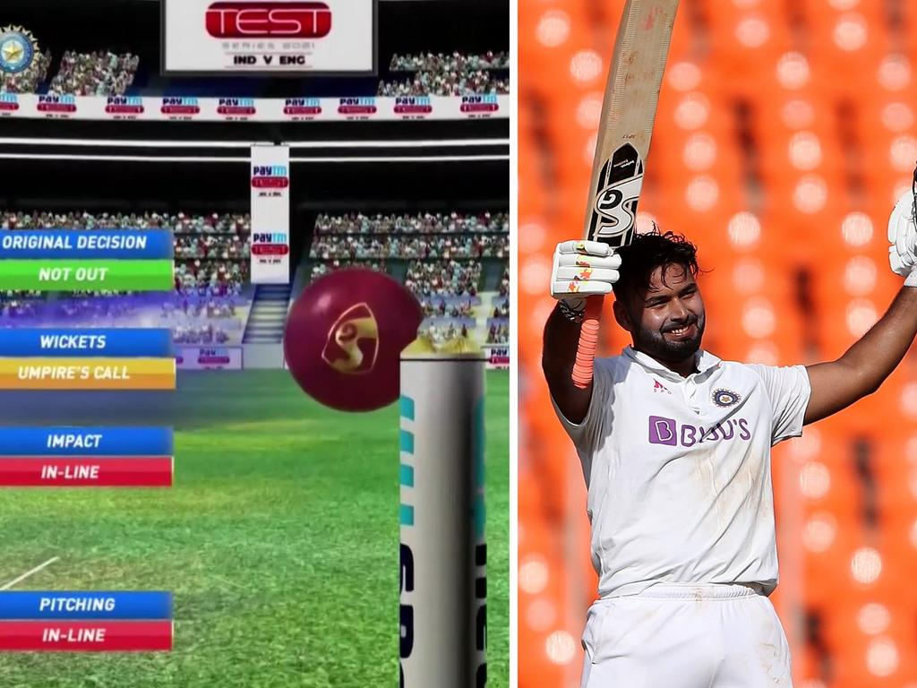 Rishabh Pant hit a century after being given a life by the DRS.