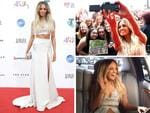 Samantha Jade arrives at the Aria Awards 2014 in Sydney. Pictures: Getty/Instagram
