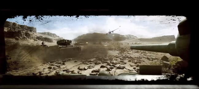 Scenes from the new Battlefield V game trailer