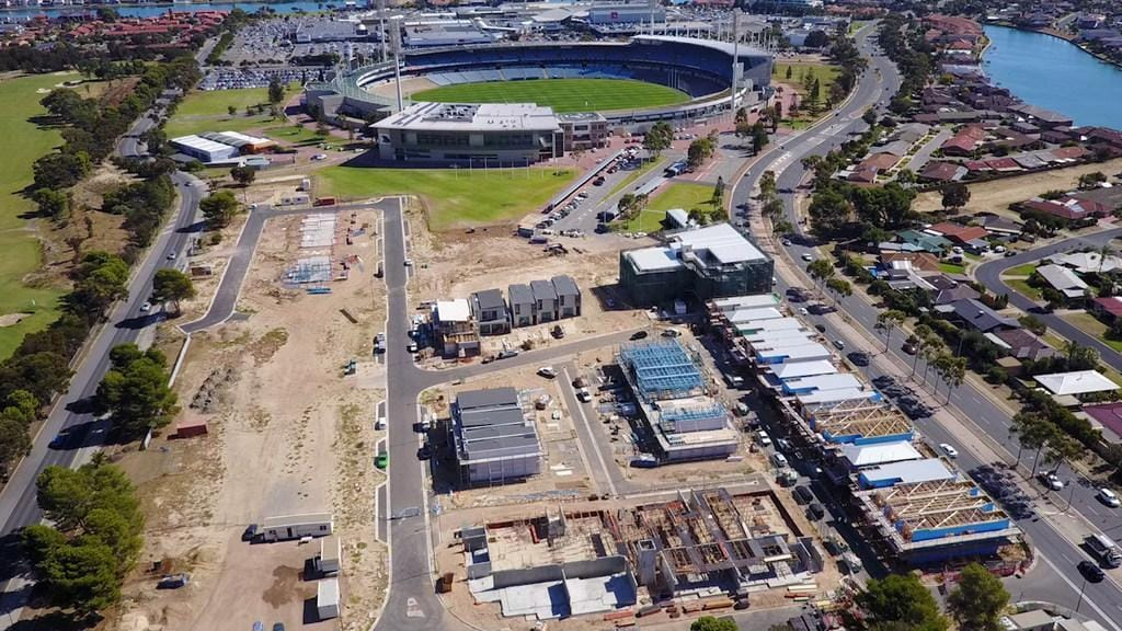 An aerial look at the West Lakes redevelopment