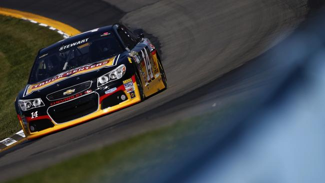 Tony Stewart, driver of the #14 Rush Truck Centers/Mobil 1 Chevrolet, qualifies for the NASCAR Sprint Cup Series Cheez-It 355 at Watkins Glen International.