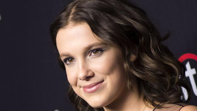 Stranger Things has turned Millie Bobby Brown into one of Hollywood's top young actresses. Picture: AFP