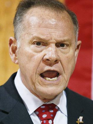 Former Alabama Chief Justice and US Senate candidate Roy Moore. Picture: AP