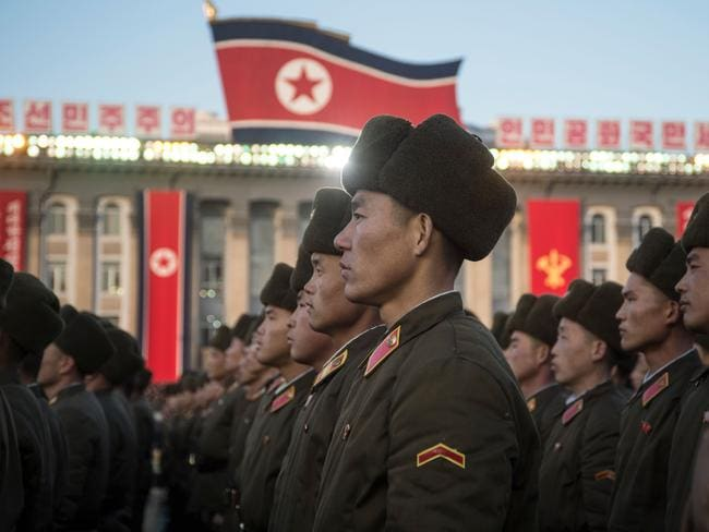 North Korea has one of the world's largest armies. Picture: AFP