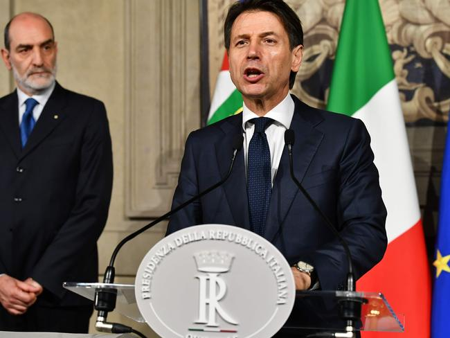 Italy's Prime minister candidate Giuseppe Conte was a political novice. Picture: AFP/ Vincenzo Pinto