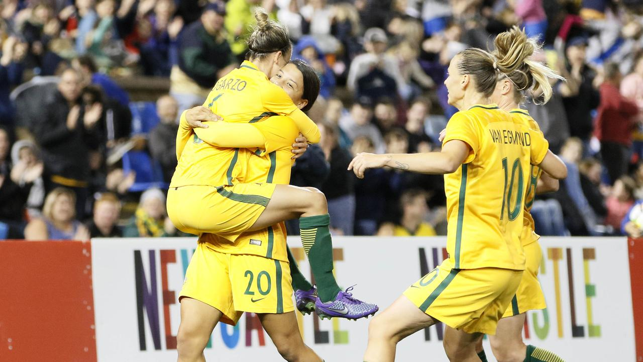 The Matildas played two hugely successful matches against Brazil at the same venues last year.