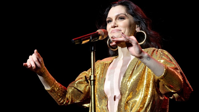 Jessie J performs on stage at The Royal Albert Hall. (Photo by Gus Stewart/Redferns)