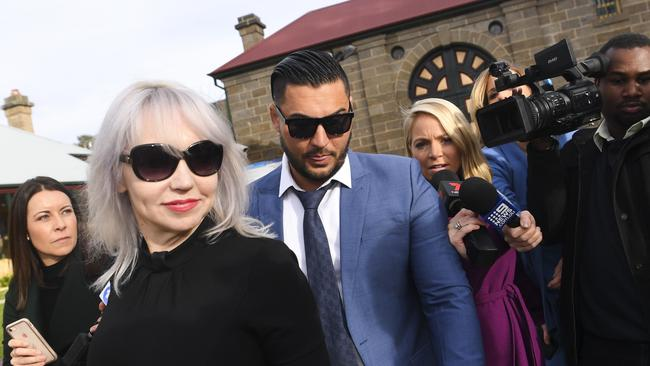 Mehajer was surrounded by media as he walked free. Picture: AAP Image/Lukas Coch