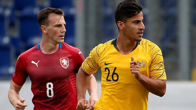 Daniel Arzani was delighted to make his Socceroos debut.