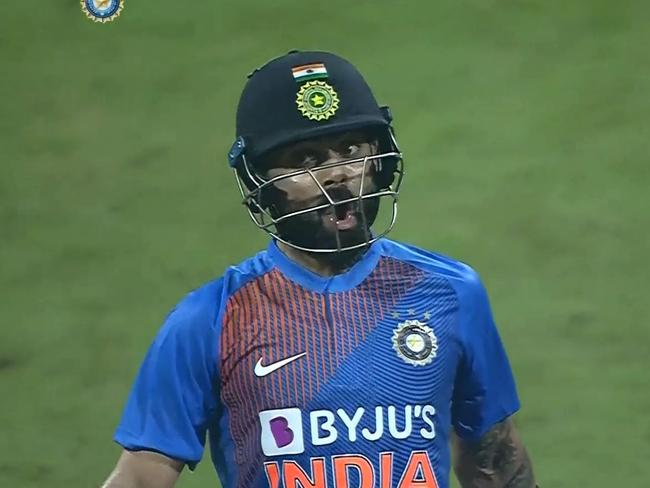 Kohli launched the ball into outer space.