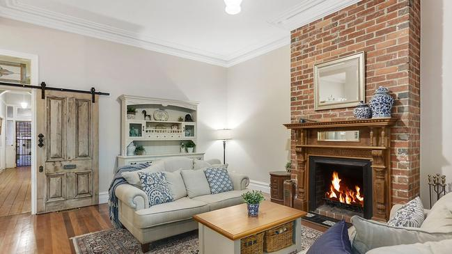 A fireplace will keep the buyers warm in the winter weather.