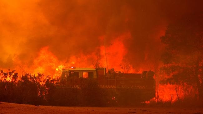The threat of deadly bushfires will rise as heatwaves intensify. Picture: Stuart McEvoy