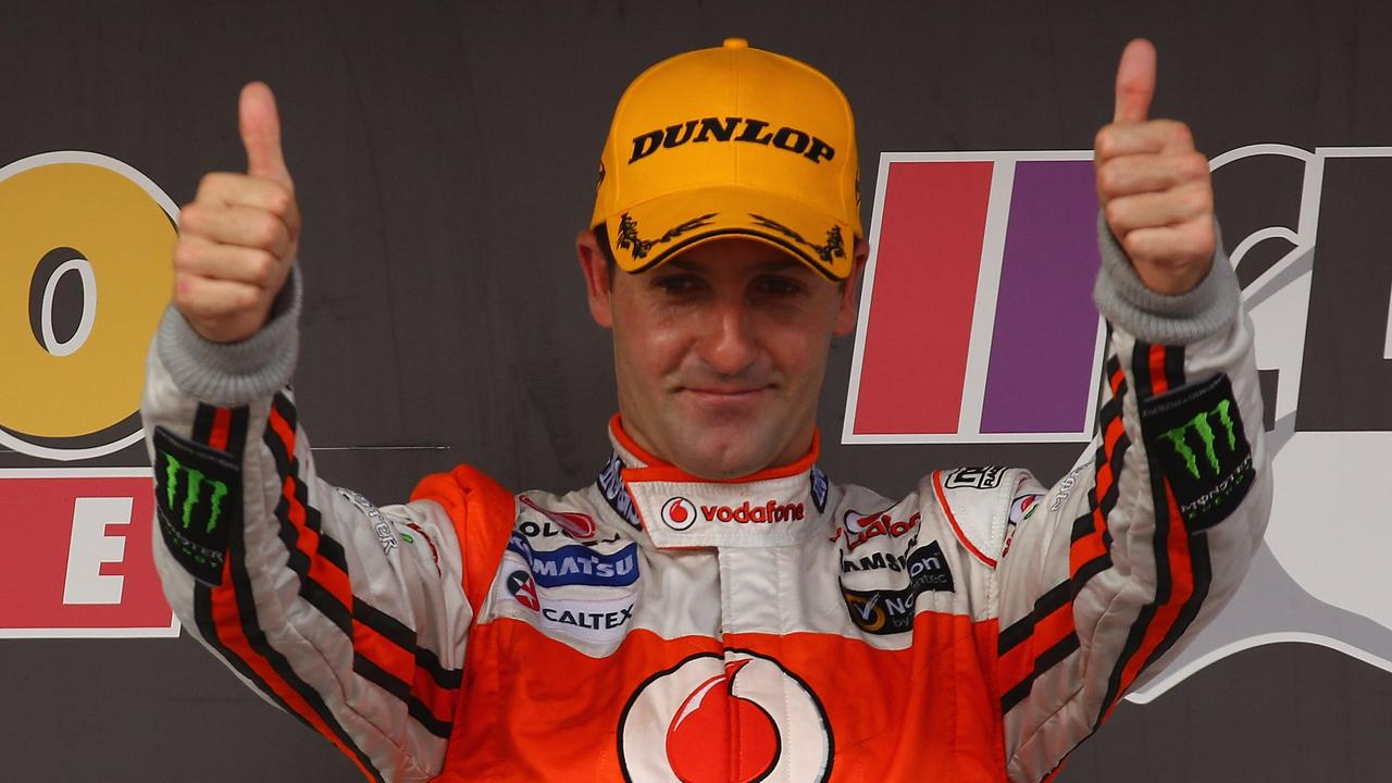 Jamie Whincup's emotions flowed at Adelaide in 2012.