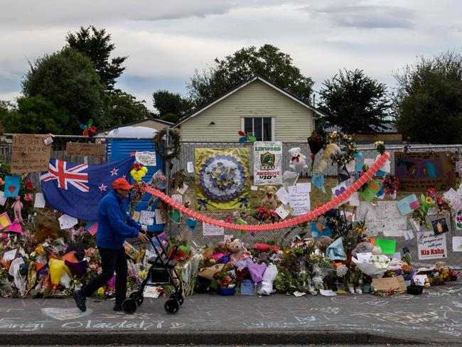 The device was found near the Linwood mosque, which was targeted in the Christchurch shootings. Picture: AFP