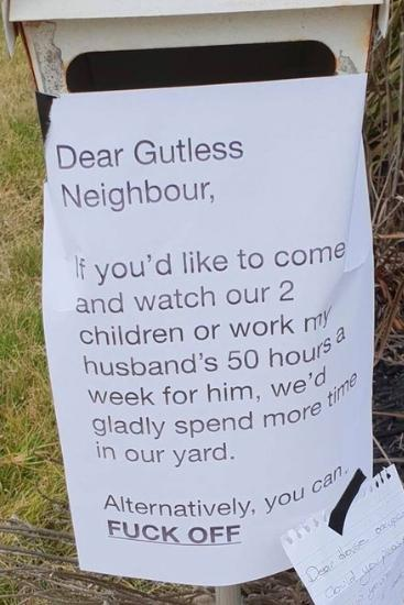 Revenge is a dish best served via letterbox. Source: Madeline Cox