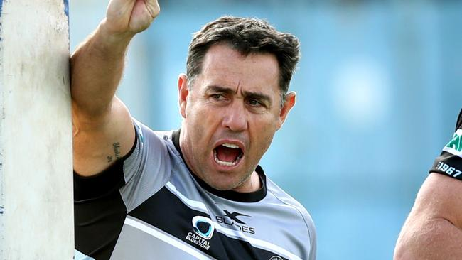 Sharks coach Shane Flanagan has been fined $30,000. Picture: Gregg Porteous