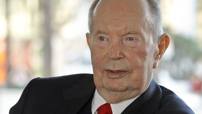 Jerry Perenchio, former chairman of Univision. Picture: Nick Ut/AP