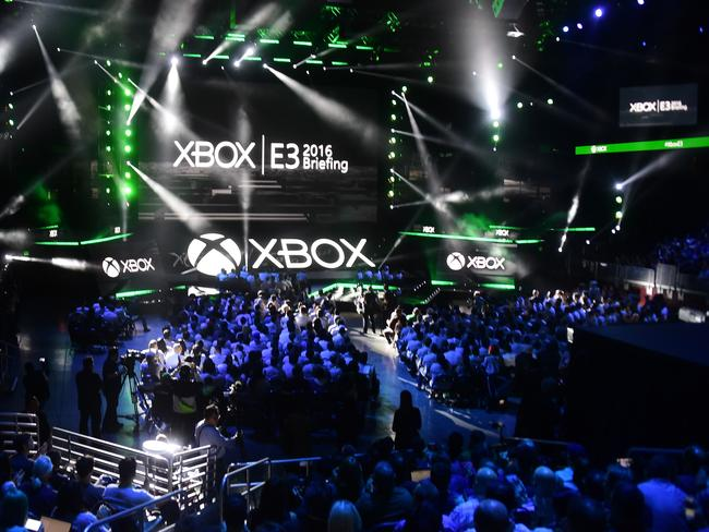 People fill the Galen Centre for Microsoft's E3 2016 Xbox press conference in Los Angeles, California. Picture: Frederic J Brown