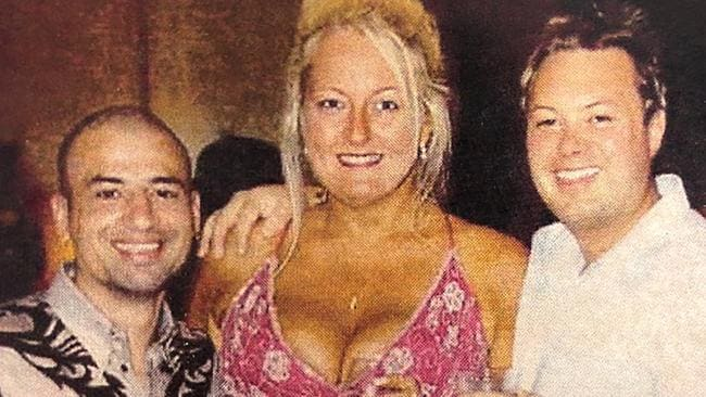 Nicola Gobbo, above with hit man Andrew 'Benji' Veniamen and Carl Williams, both since murdered, is at risk herself, the documentary warns.