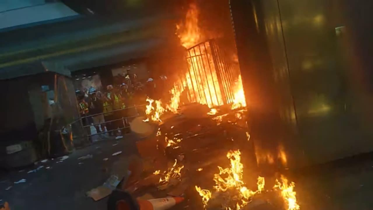 Fires and Damage to MTR Station Reported as Hong Kong Protests Heat Up