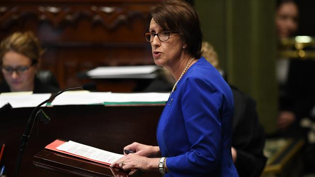 Member for Port Macquarie Leslie Williams speaks during amendments to the introduction to the Reproductive Healthcare Reform Bill 2019. Picture: AAP/Joel Carrett