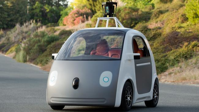 Look mum, no lights ... an early version of Google's self-driving vehicle prototype lacked details and features.