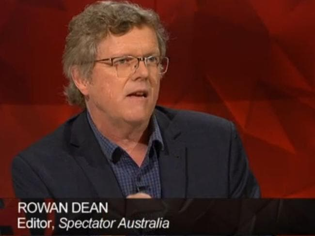 """Rowan Dean retorted that free speech was """"not about lying or inciting hatred""""."""