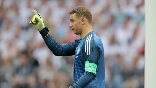 The chant was made as Manuel Neuer took a goalkick. Picture: Alexander Hassenstein/Getty Images