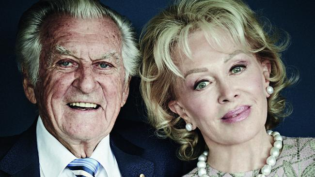 Bob Hawke and Blanche D'Alpuget in 2017. Picture: Harold David