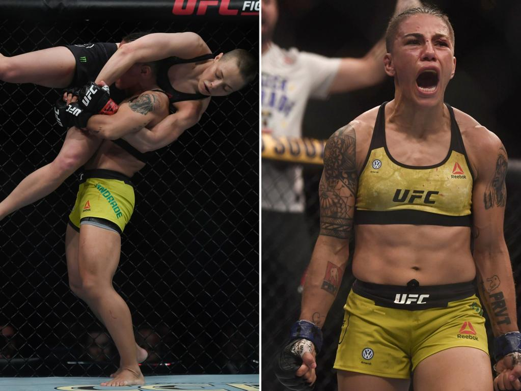 Jessica Andrade earned the rare KO slam.