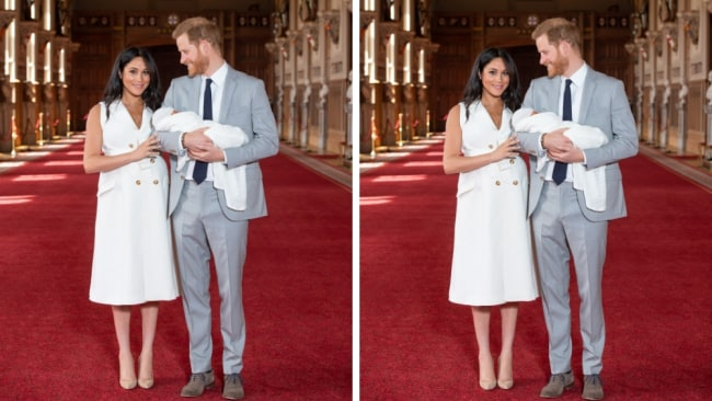 The Duchess refused to hide her post-birth belly at Archie's first outing. Image: Getty Images.