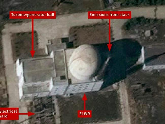 The Yongbyon experimental light water reactor in North Korea, suggesting trial operations are under way. Picture: Associated Press