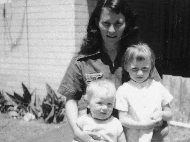 Catherine Birnie with two of her children before she left her husband and embarked on the sinister killing spree that put her in prison.