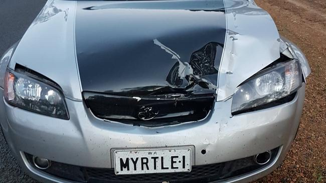 It was the first time Miss O'Connell had hit a roo — although she has been a passenger in plenty of other cars that have also collided with the animals. Picture: Supplied
