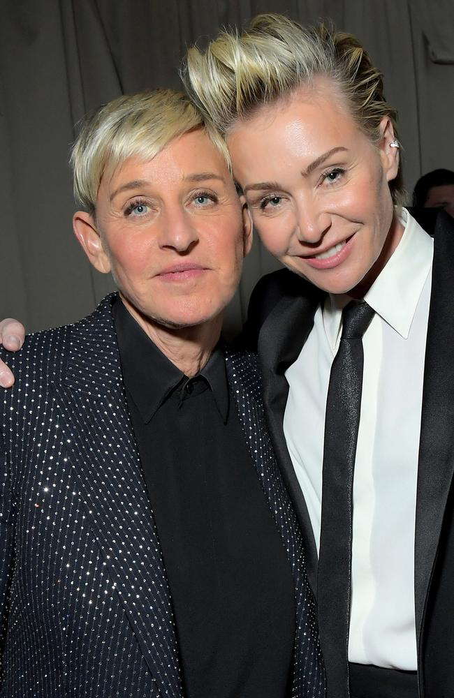 Ellen DeGeneres and wife Portia de Rossi. Picture: Charley Gallay/Getty Images for Netflix