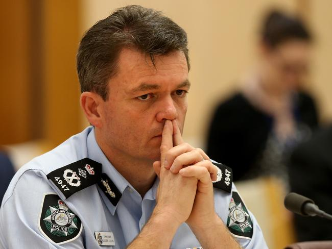 Tough questions ahead for our top cop ... AFP Commissioner Andrew Colvin.