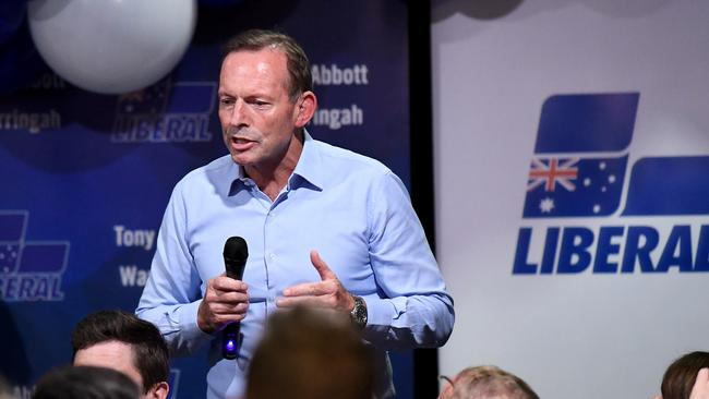 Tony Abbott received just 39 per cent of the primary vote in his former seat of Warringah.