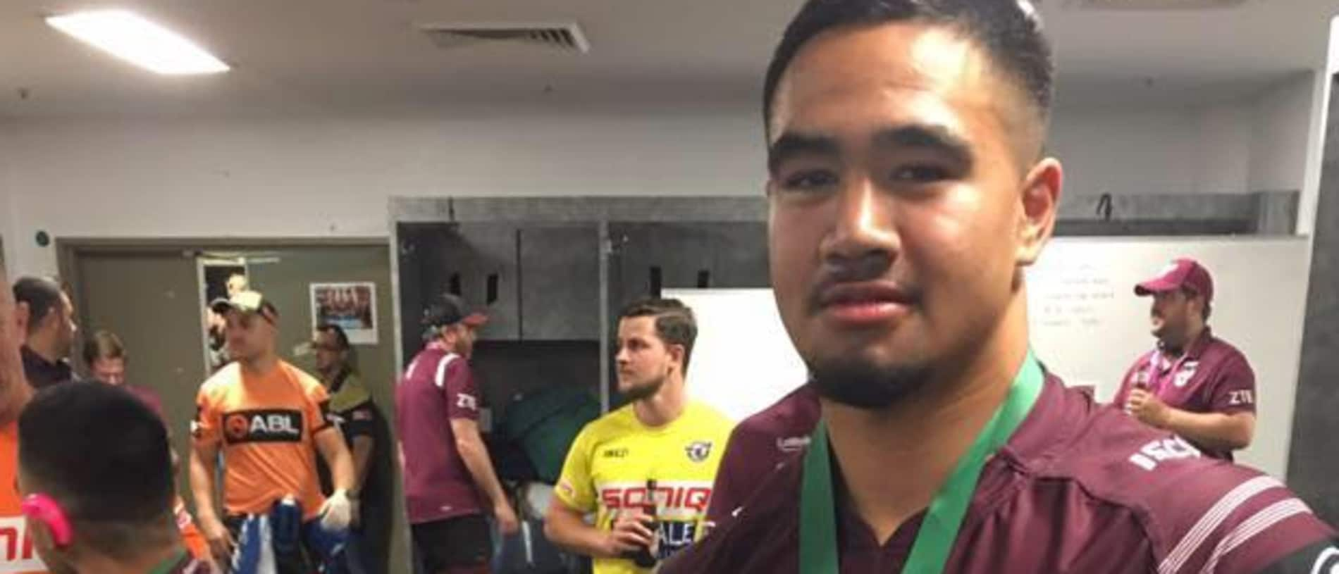A Facebook post from Keith Titmuss after winning the 2017 Holden Cup U20's Grand Final. Keith collapsed and died after a pre-season training session for his Manly-Warringah NRL club on Monday. Source https://www.facebook.com/photo.php?fbid=1710918975605488&set=pb.100000622065822.-2207520000..&type=3