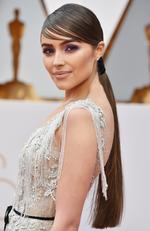 Actress Olivia Culpo unveils a one-of-a-kind Marchesa for Stella Artois gown featuring beads made from the Stella Artois Limited-Edition Chalices that benefit Water.org during the 89th Annual Academy Awards. Picture: Frazer Harrison/Getty Images
