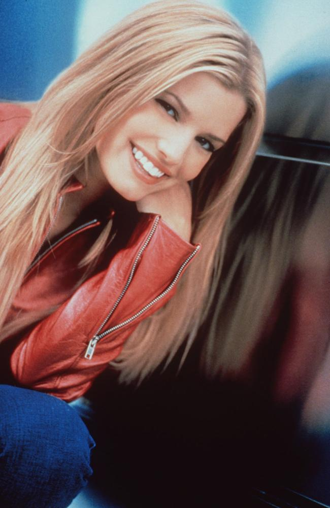 Jessica Simpson, pictured at 20 years old, first signed to Columbia Records at 17. Picture: Supplied.